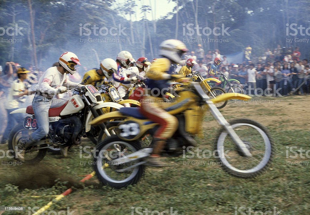Motocross race stock photo