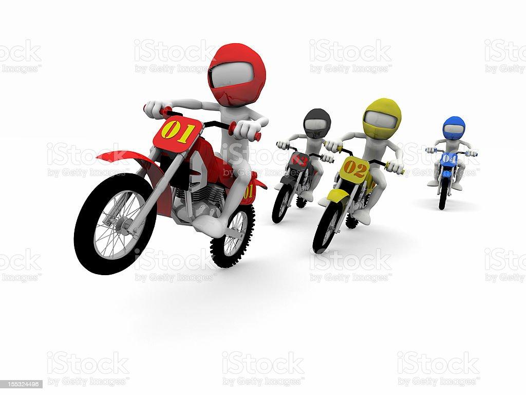Motocross raza foto de stock libre de derechos