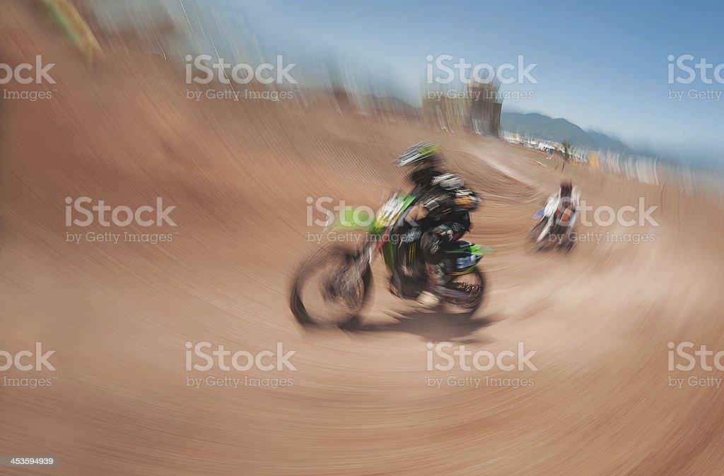 Motocross racing royalty-free stock photo
