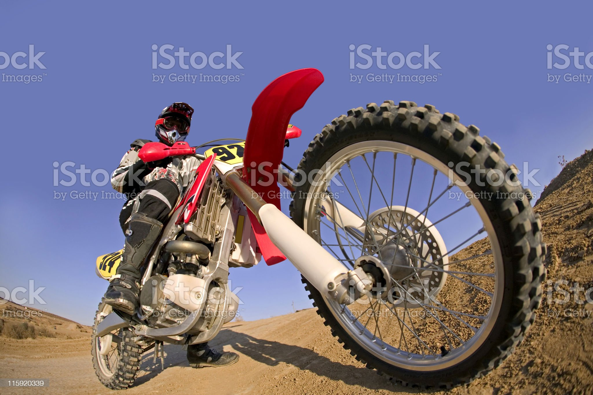 Motocross Rider and Bike Before Race royalty-free stock photo