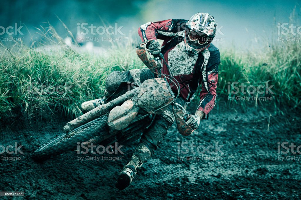 Motocross rider stock photo