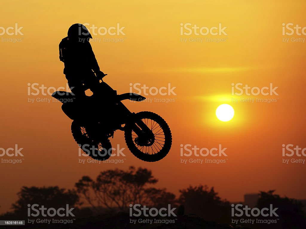 Motocross rider royalty-free stock photo