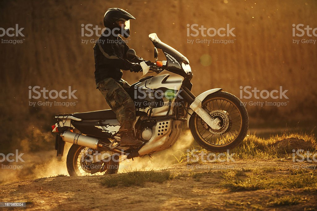 Motocross rider royalty-free stock photo