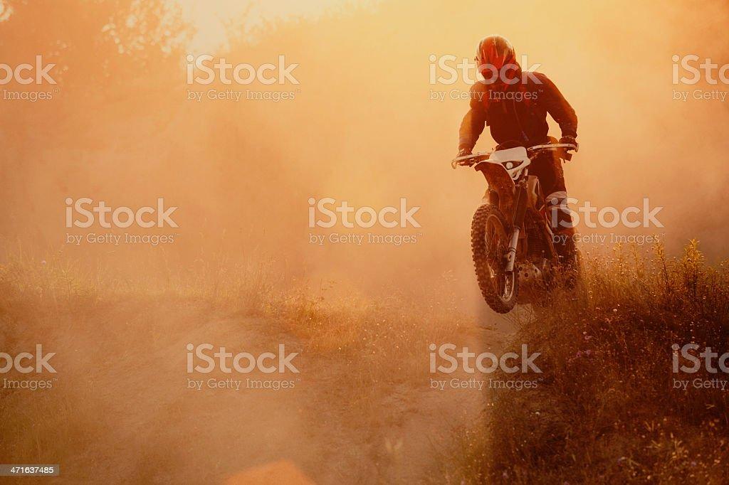 Motocross rider stock photo