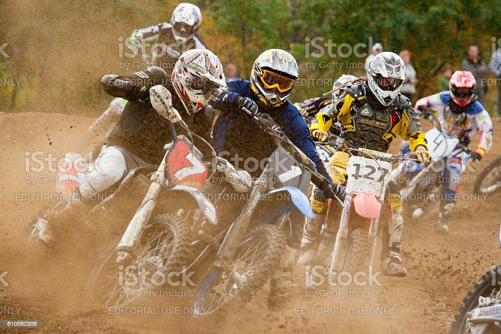 Motocross Rider Race stock photo