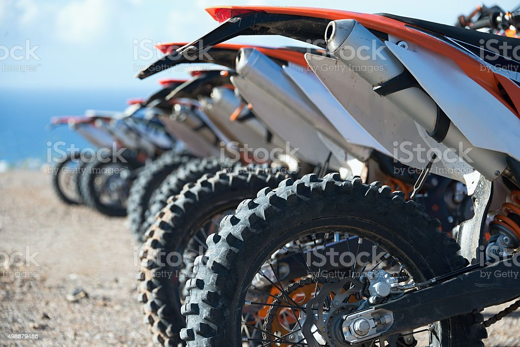 Motocross riders stock photo