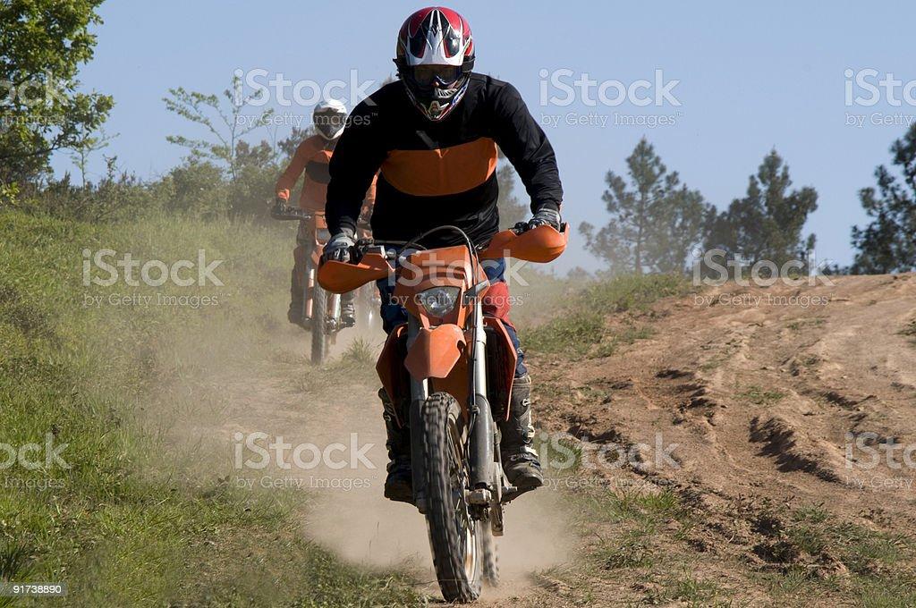 Motocross riders royalty-free stock photo