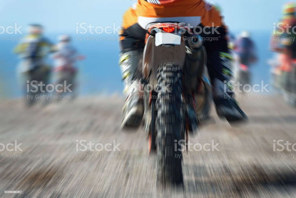motocross sport (abstract) stock photo