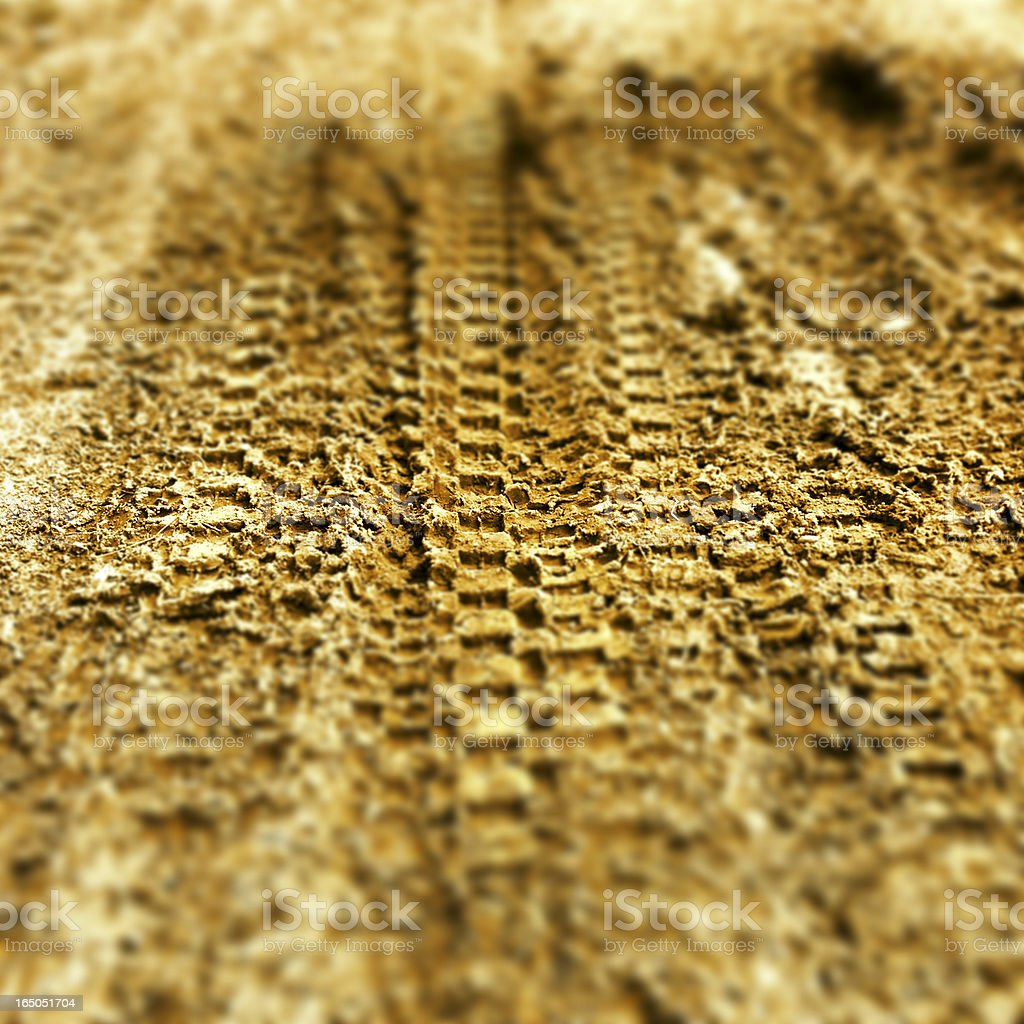 Motocross Tire Track on Muddy Ground royalty-free stock photo