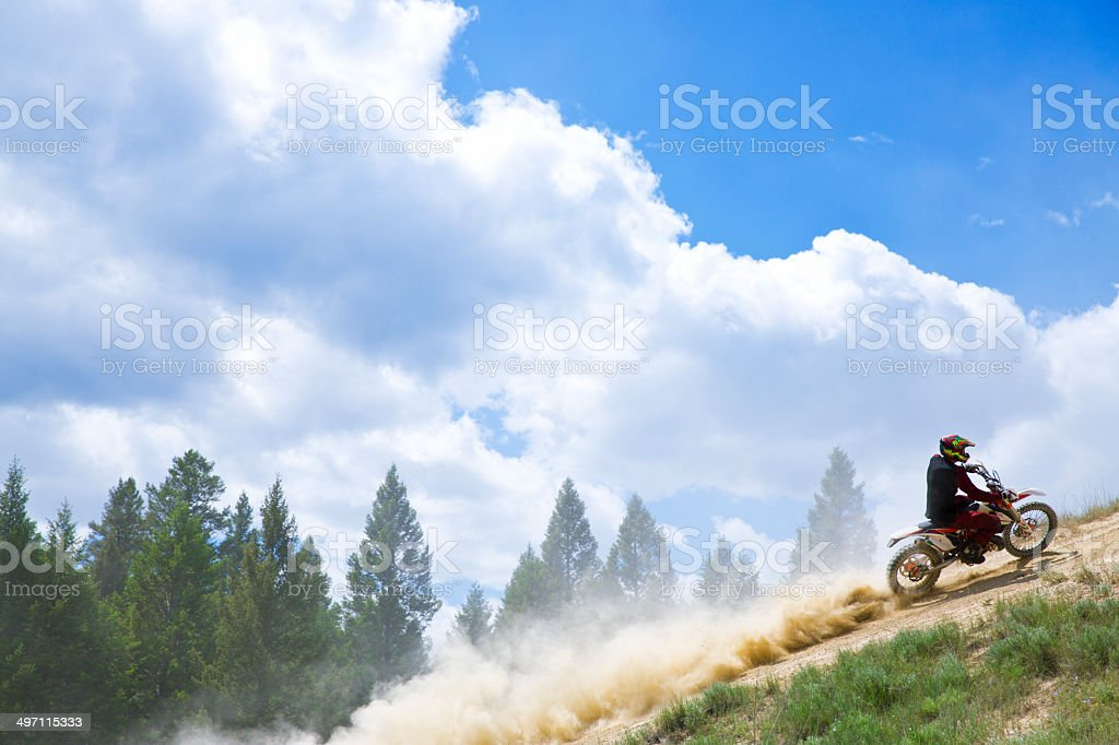 Motocross Trail Rider royalty-free stock photo