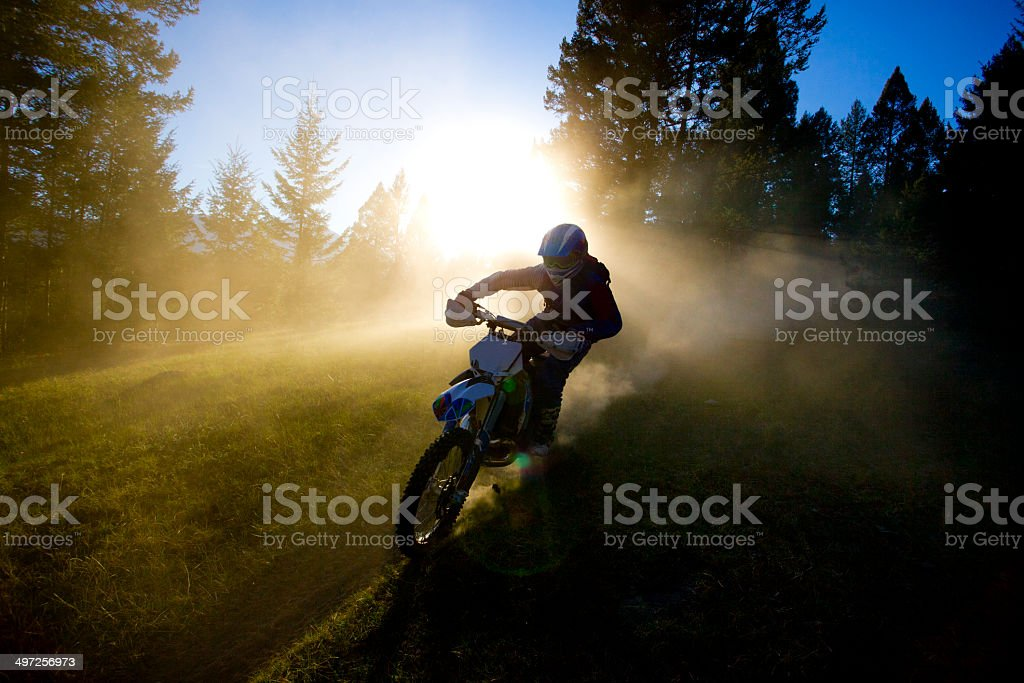 Motocross Trail Rider stock photo
