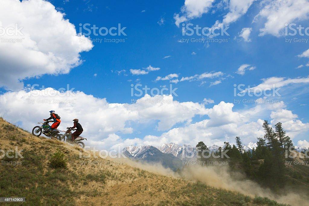 Motocross Trail Riders royalty-free stock photo