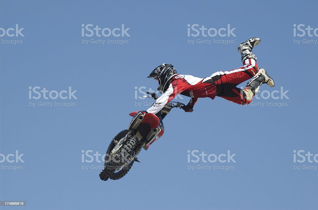 Motocross trick royalty-free stock photo