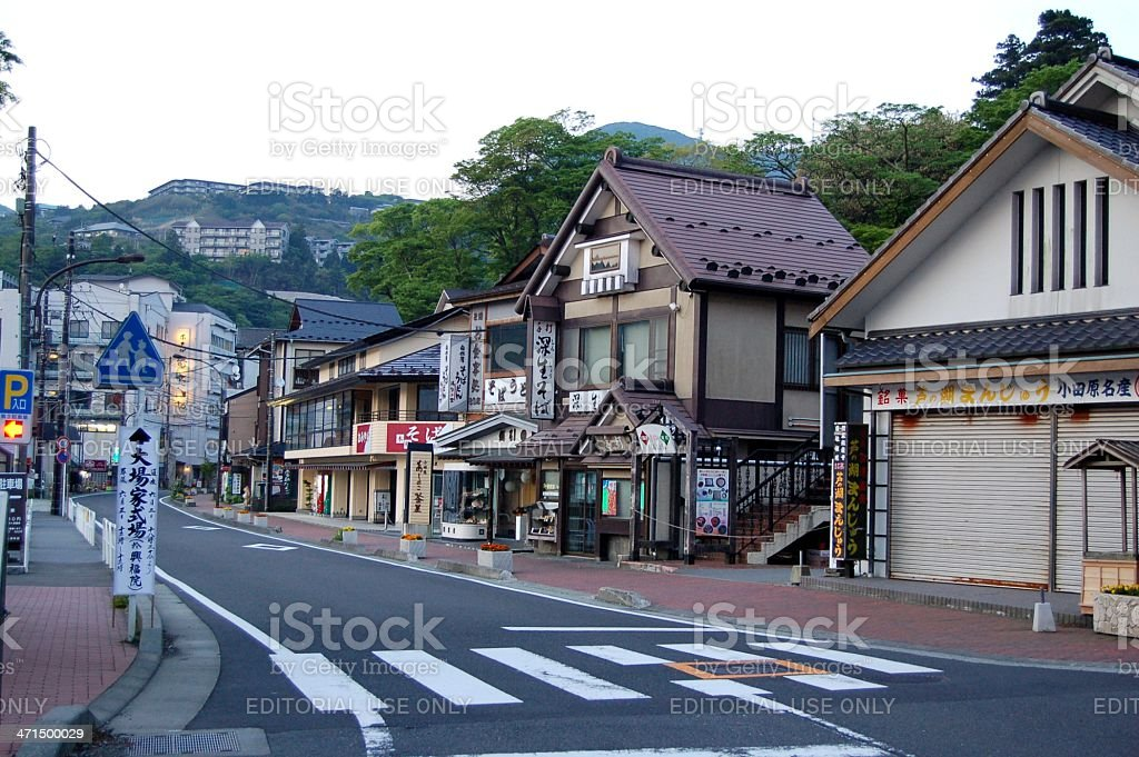 Motohakone-ko in Hakone, Japan stock photo