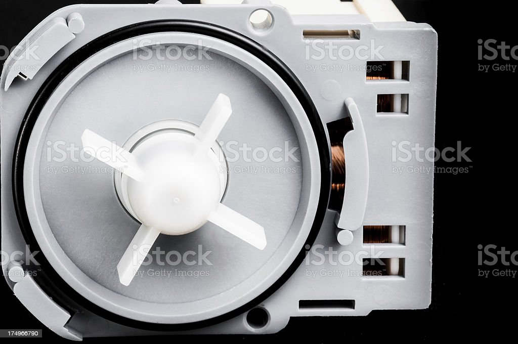 Motor and plastic impeller for a water pump royalty-free stock photo