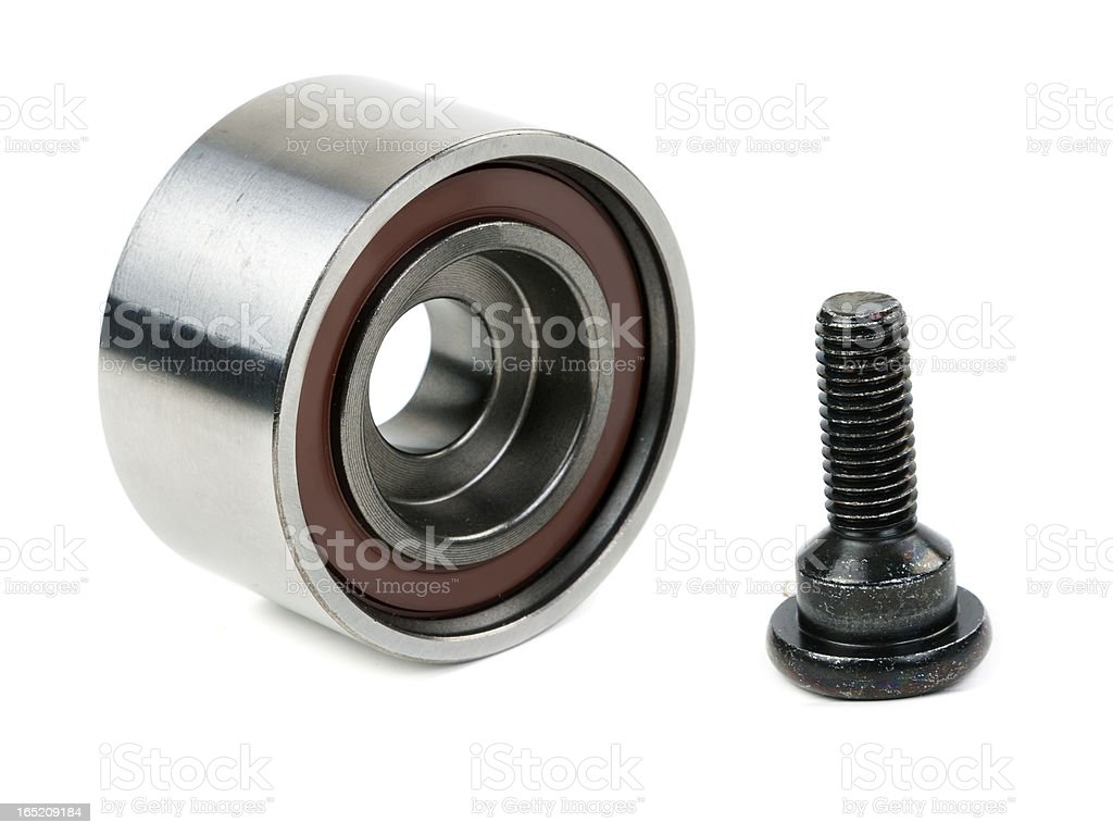 Motor bearing with bolt royalty-free stock photo