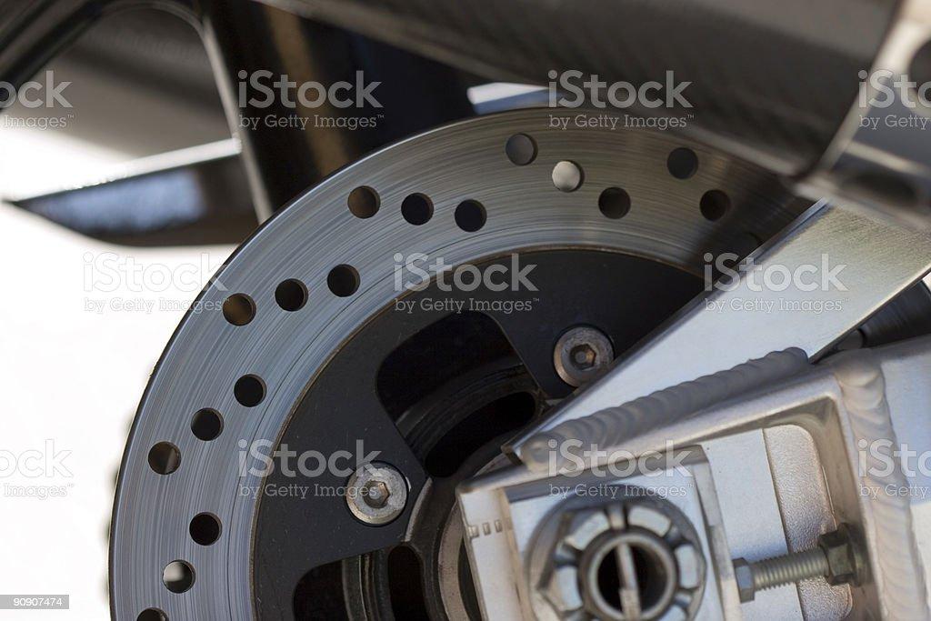 Motor bike rotors and brakes stock photo