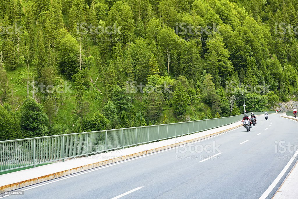 Motor bikes on highway royalty-free stock photo