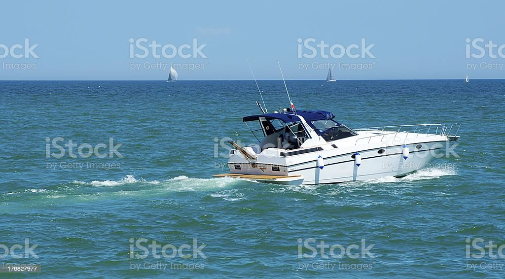 Motor Boat in the Sea royalty-free stock photo