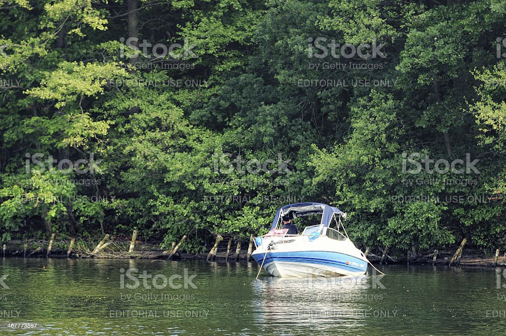 motor boat on Wannsee (Berlin - Germany) royalty-free stock photo