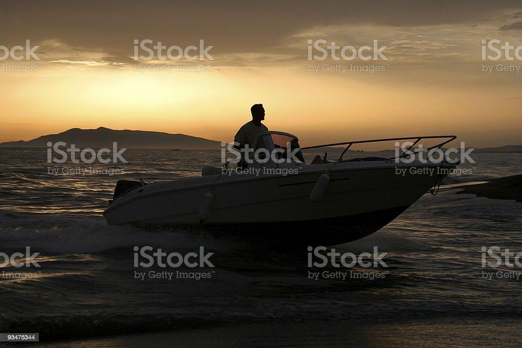 Motor boat royalty-free stock photo