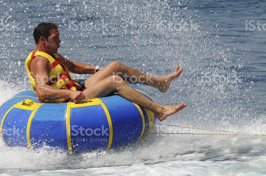 Motor boating royalty-free stock photo