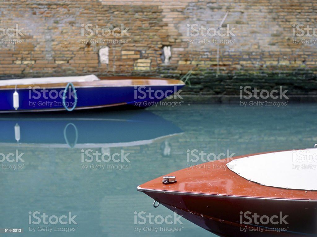 Motor boats in Venice, Italy royalty-free stock photo