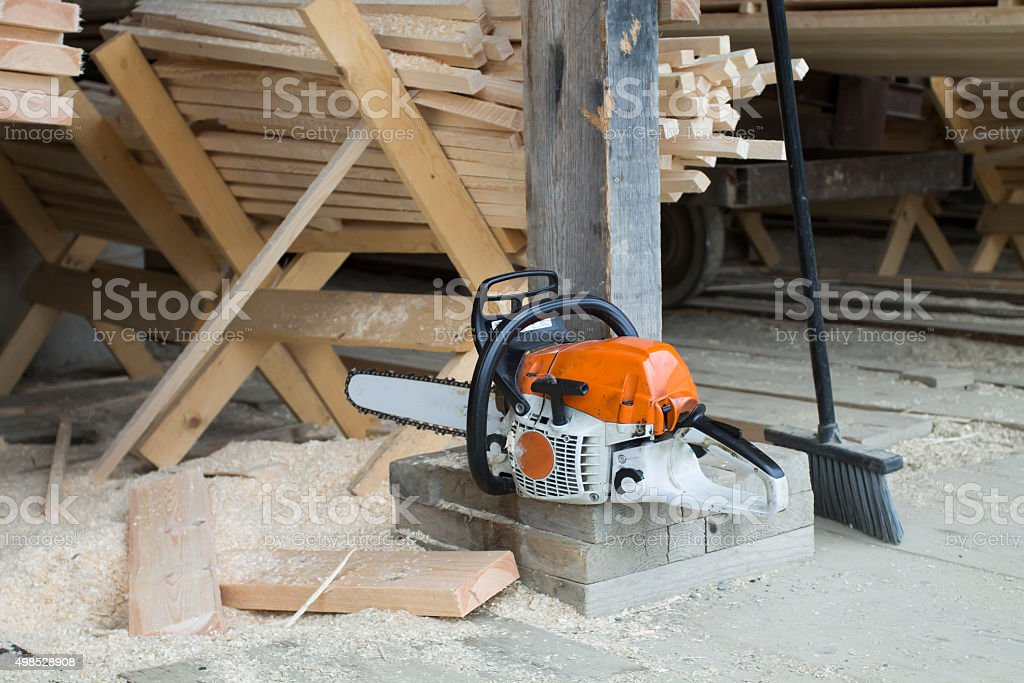 Motor Chainsaw stock photo