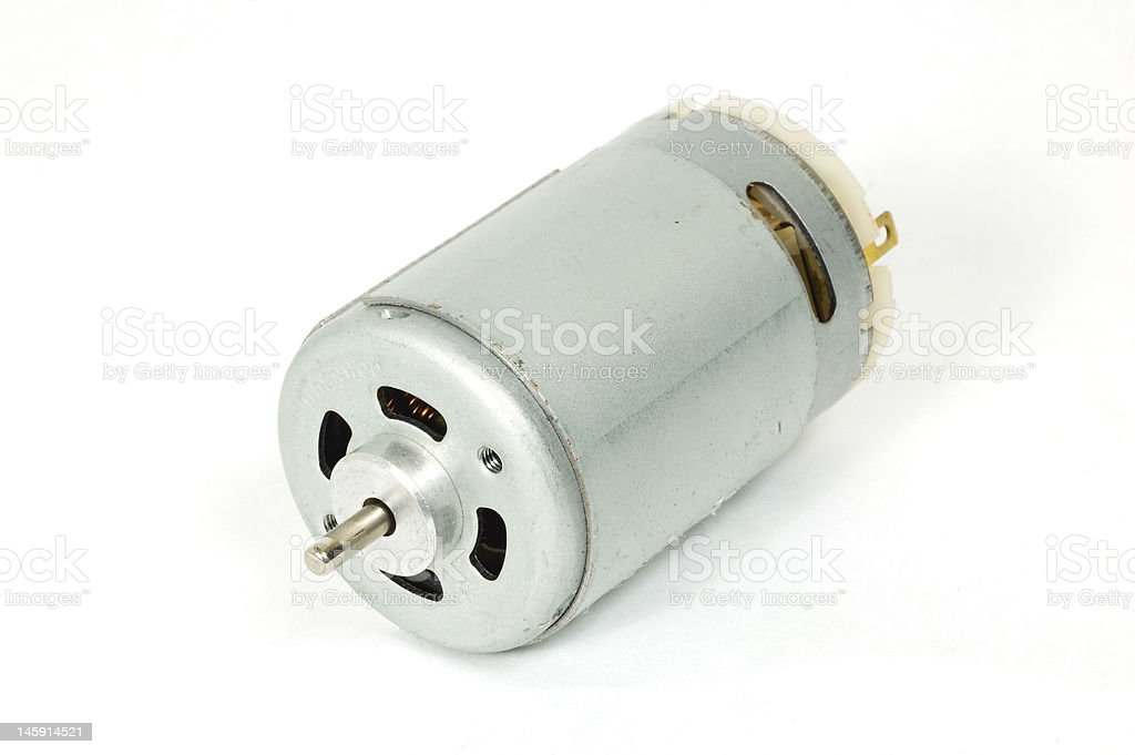 DC Motor Closeup stock photo