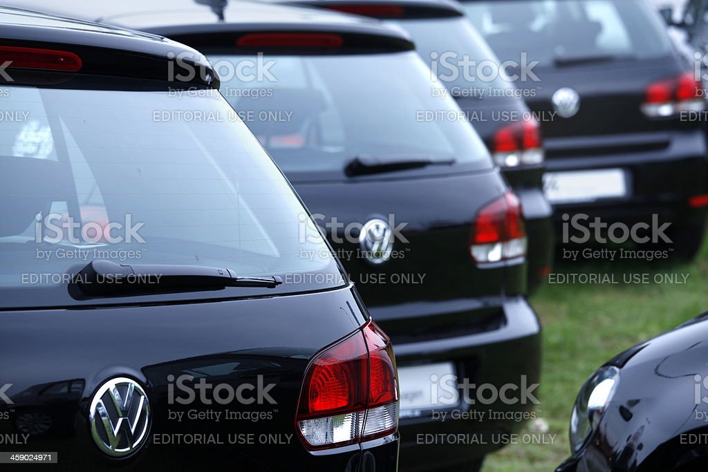 VW Motor Company Badge stock photo