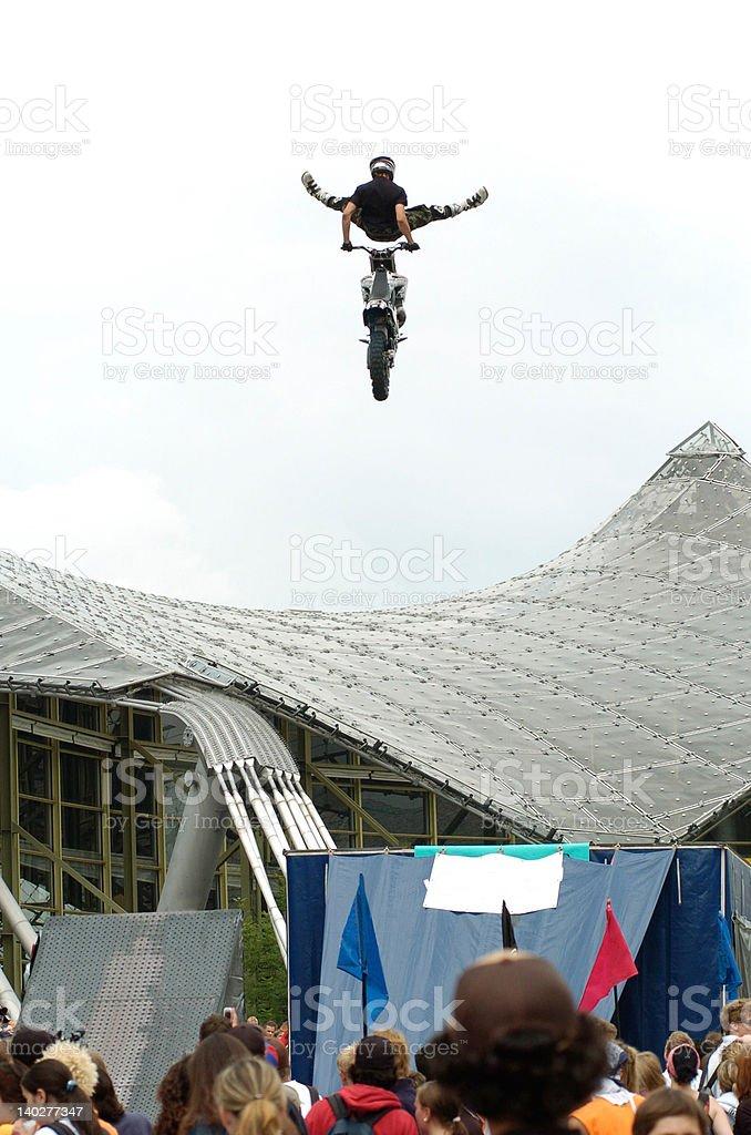 Motor Cross Jump stock photo