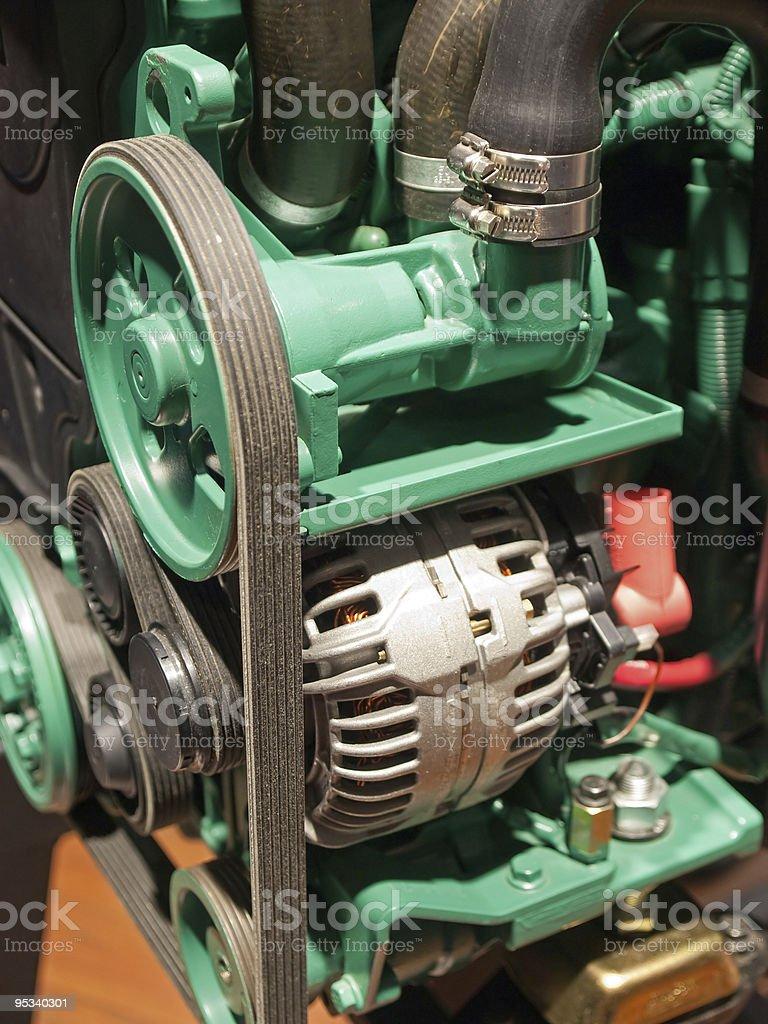 Motor engine royalty-free stock photo
