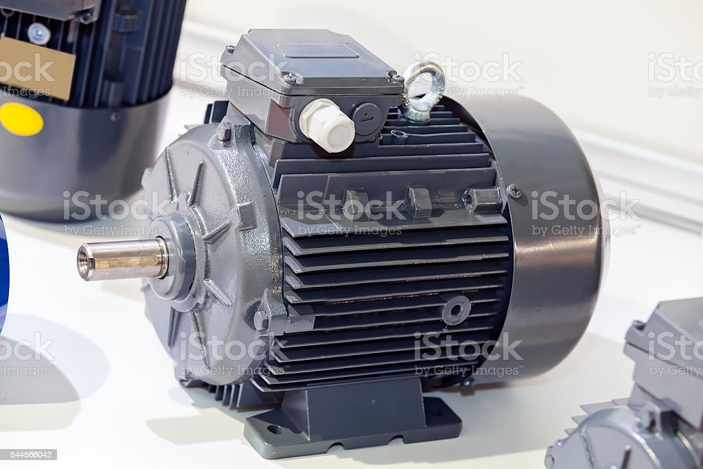 Motor for engine stock photo