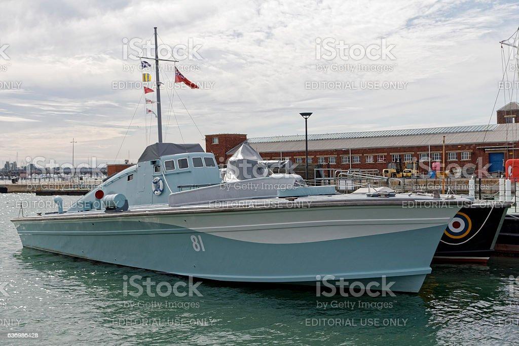 Motor Gunboat No. 81 stock photo