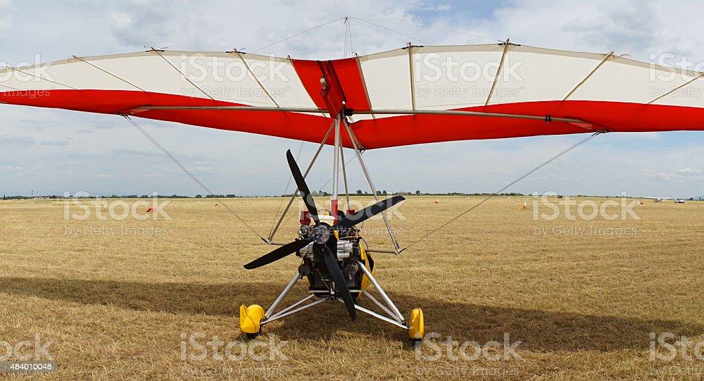 Motor Hang Glider stock photo