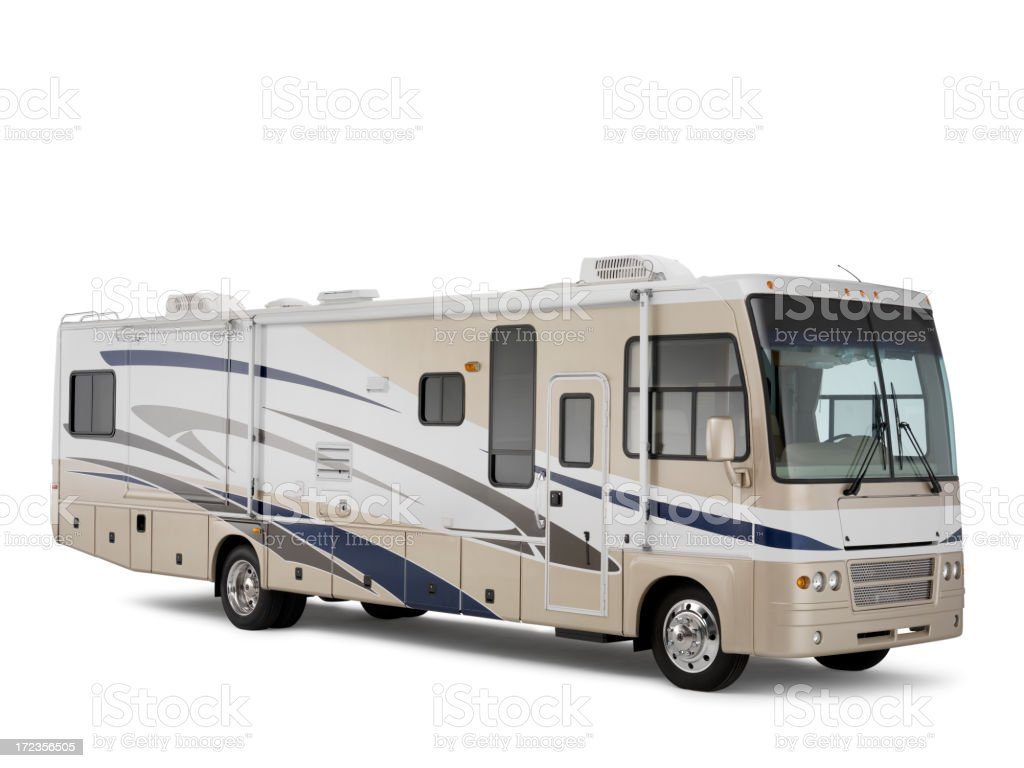 A motor home on a white background stock photo