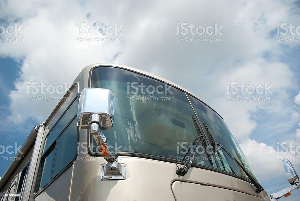 Motor Home RV stock photo