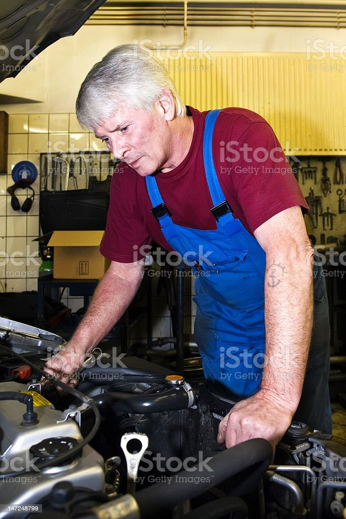 Motor mechanic royalty-free stock photo