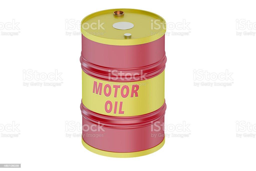 Motor oil barrel stock photo