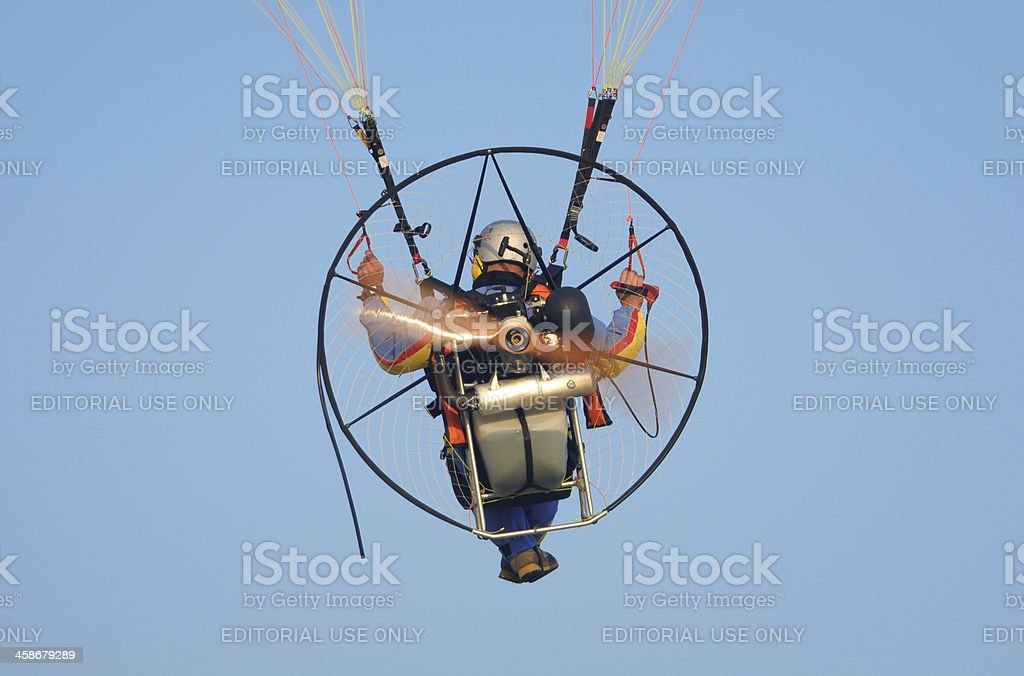 Motor paraglider royalty-free stock photo