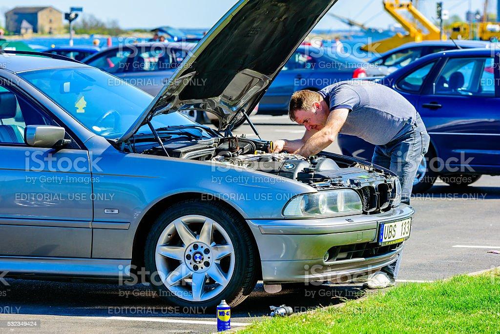 Motor problems stock photo