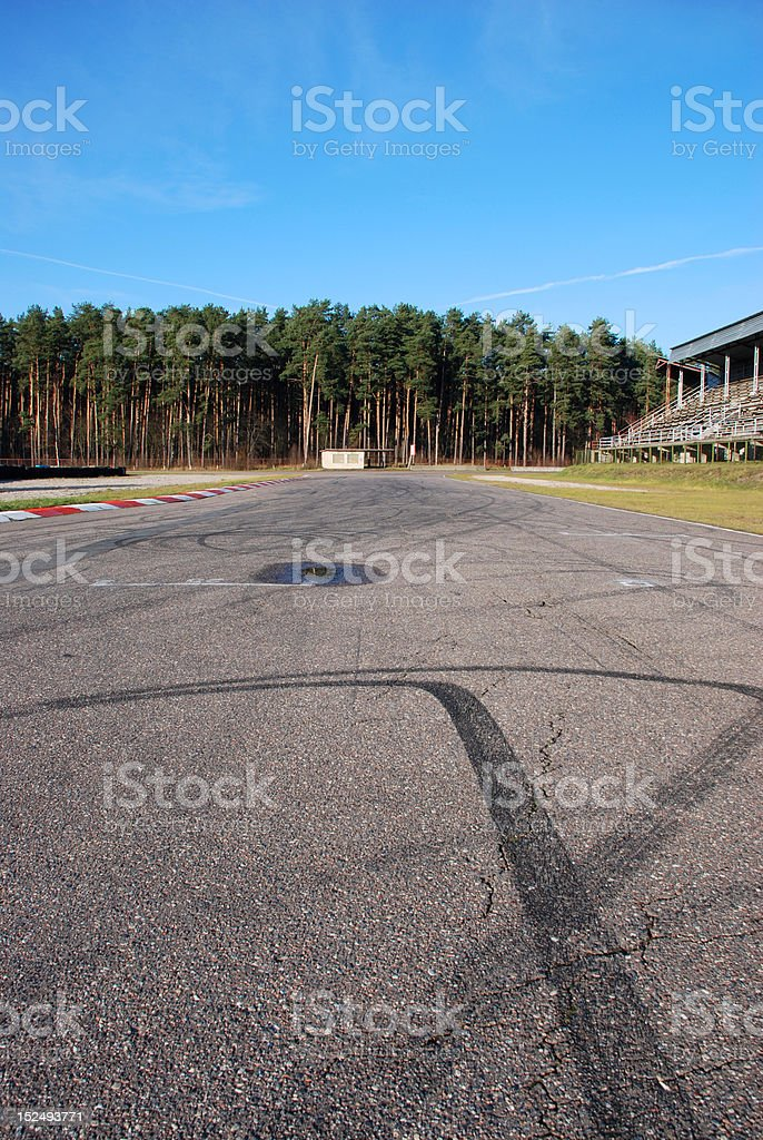 Motor racing track royalty-free stock photo