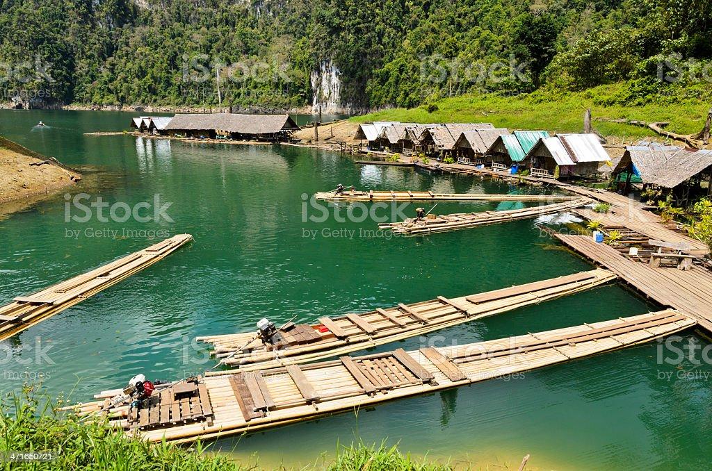 Motor raft wharf.. royalty-free stock photo