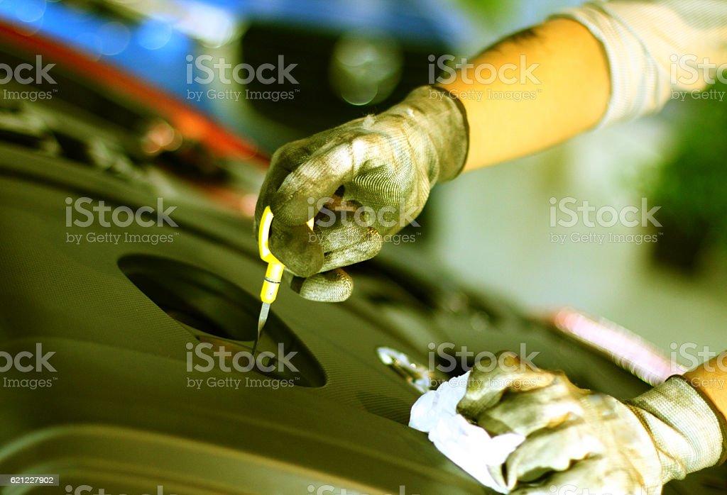 Motor repair stock photo