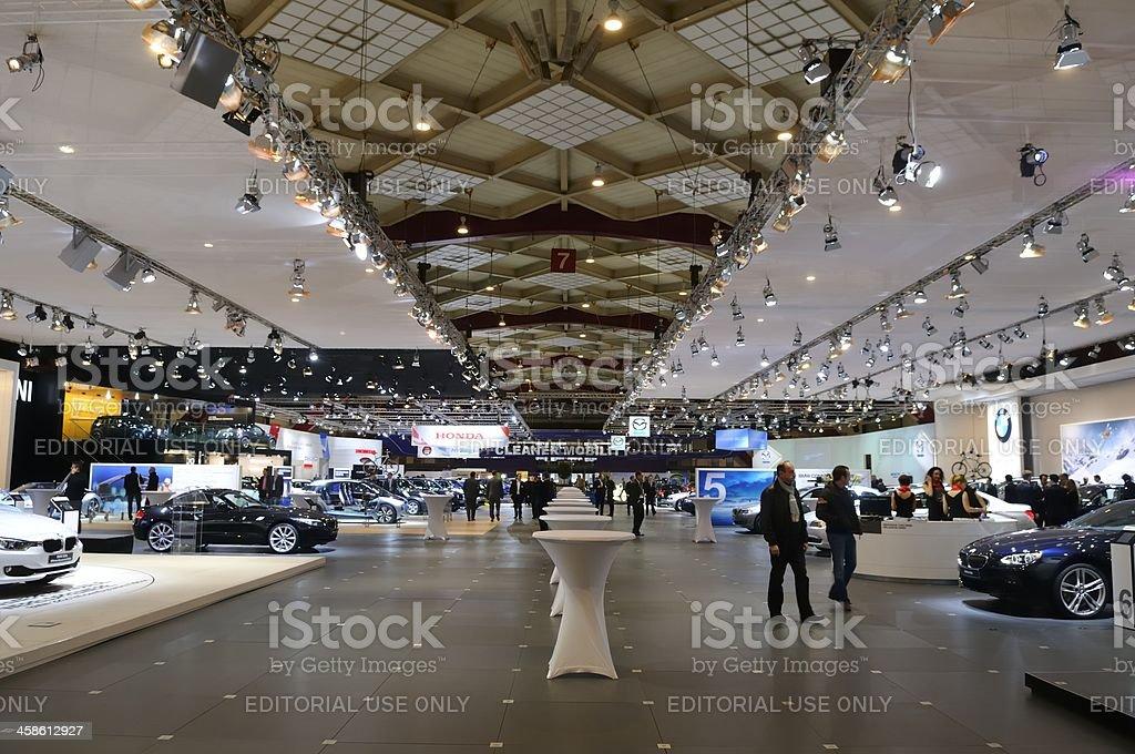 BMW motor show stock photo