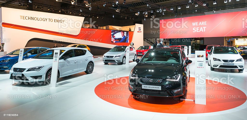 SEAT motor show stand stock photo