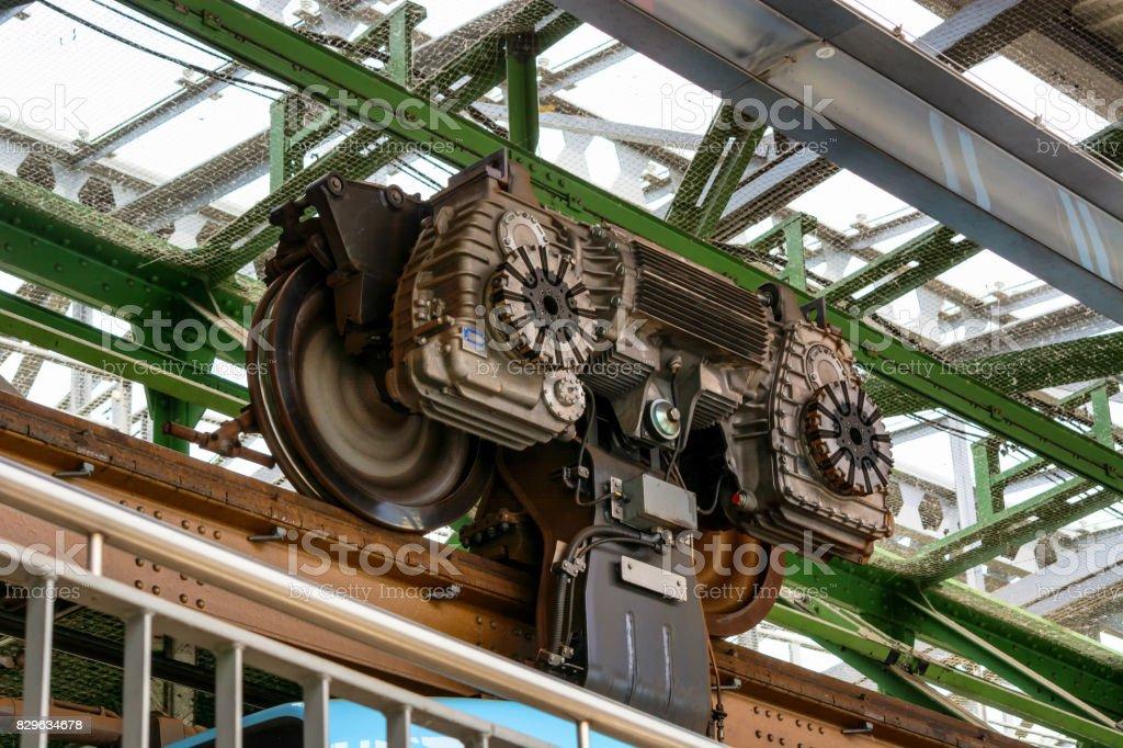 Motor suspension railway stock photo