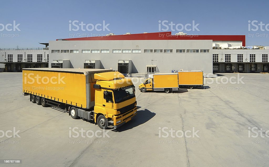 Motor vehicle for commercial use royalty-free stock photo