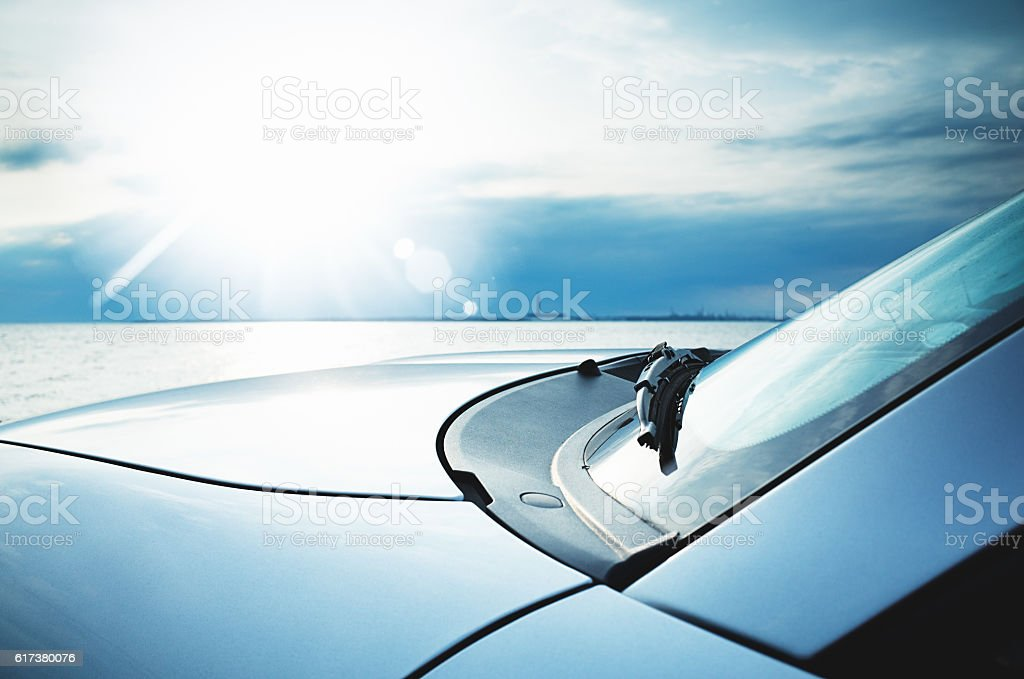 Motor Vehicle Renewable Energy from Sun and Nature stock photo