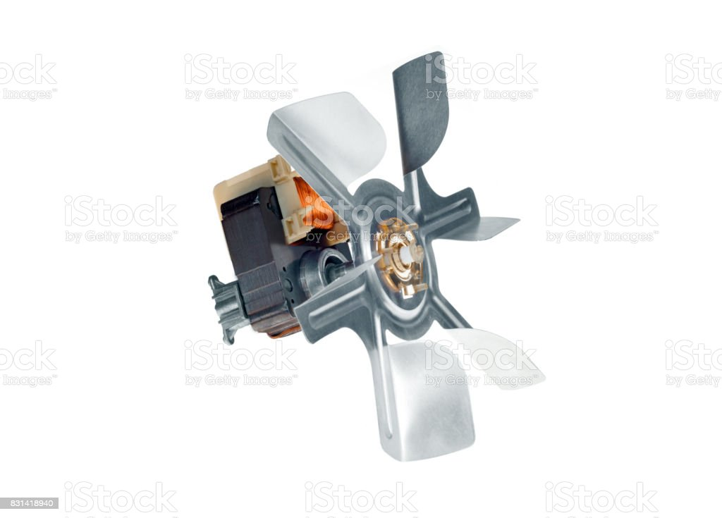 Motor with the impeller stock photo